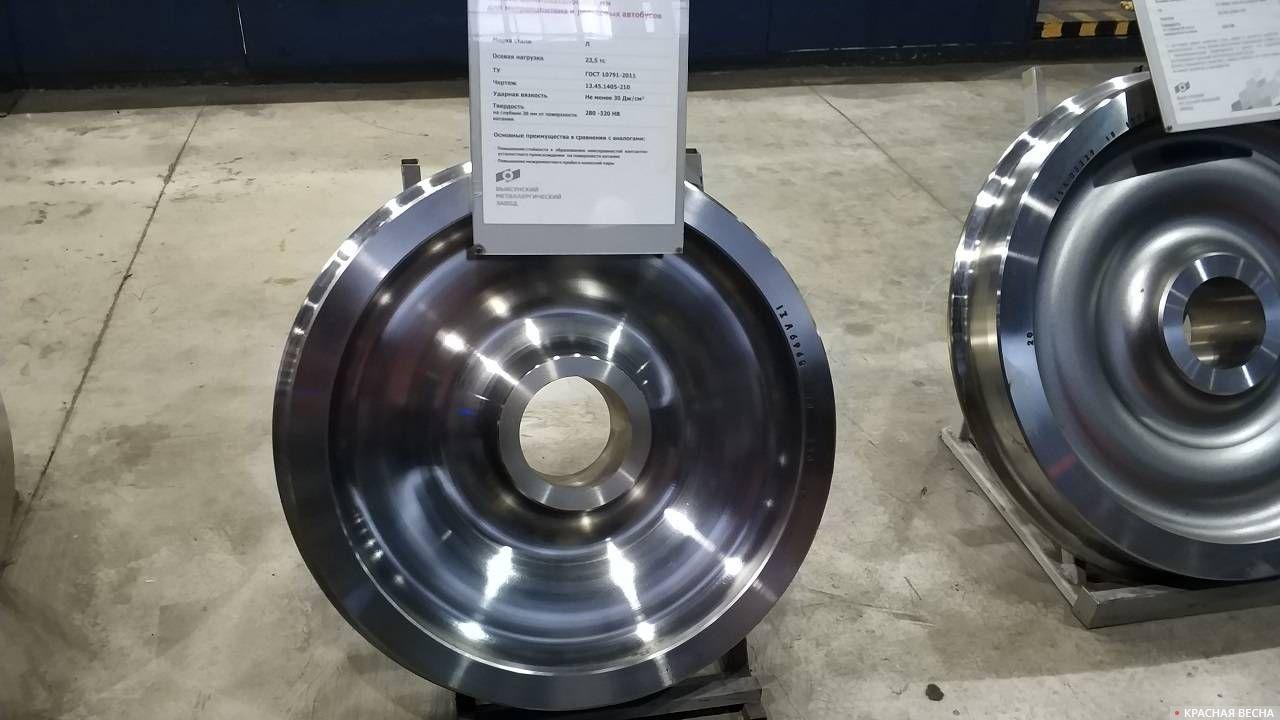 Вагонные колеса производства Объединенной металлургической компании