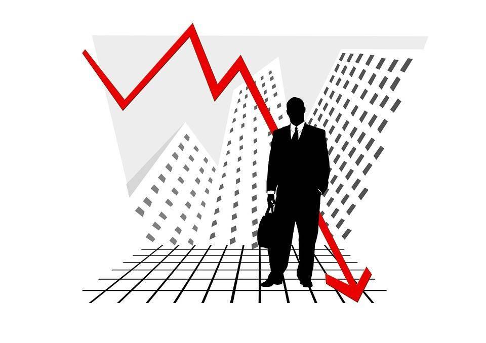 падение, статистика, график