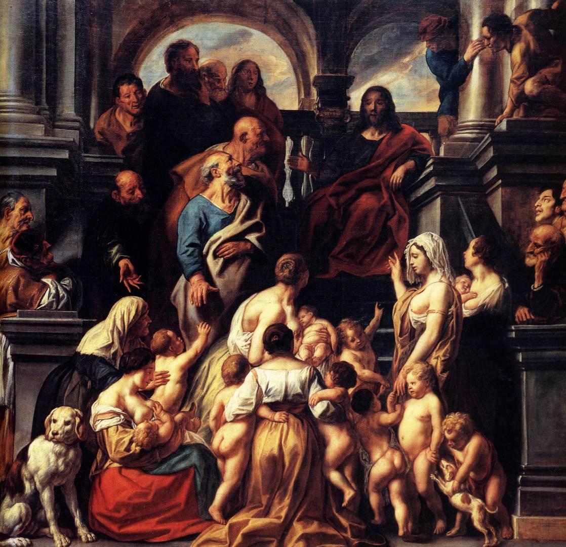 Йорданс Якоб. Страдающие маленькие дети. 1655