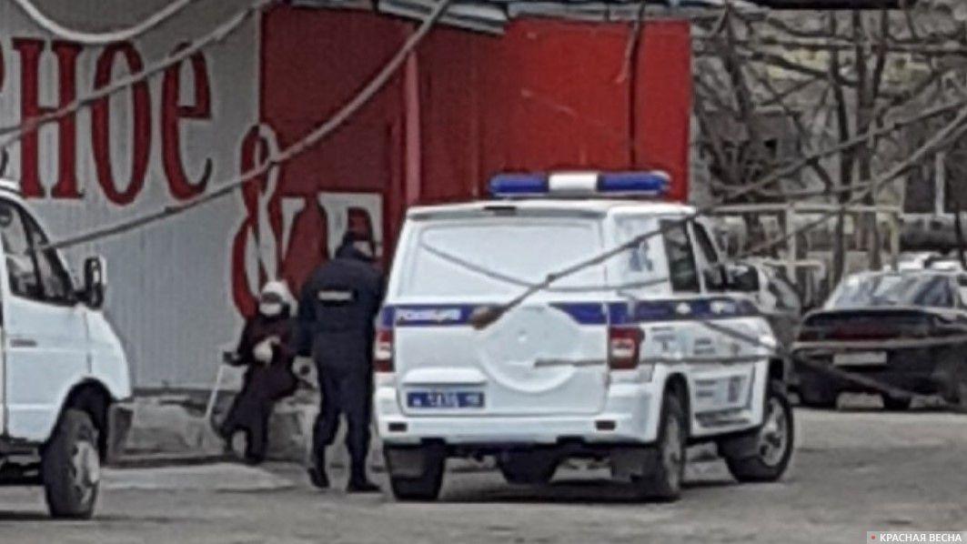 Полиция на улицах Кургана 14 апреля 2020 года. Лия Головизина © ИА Красная Весна