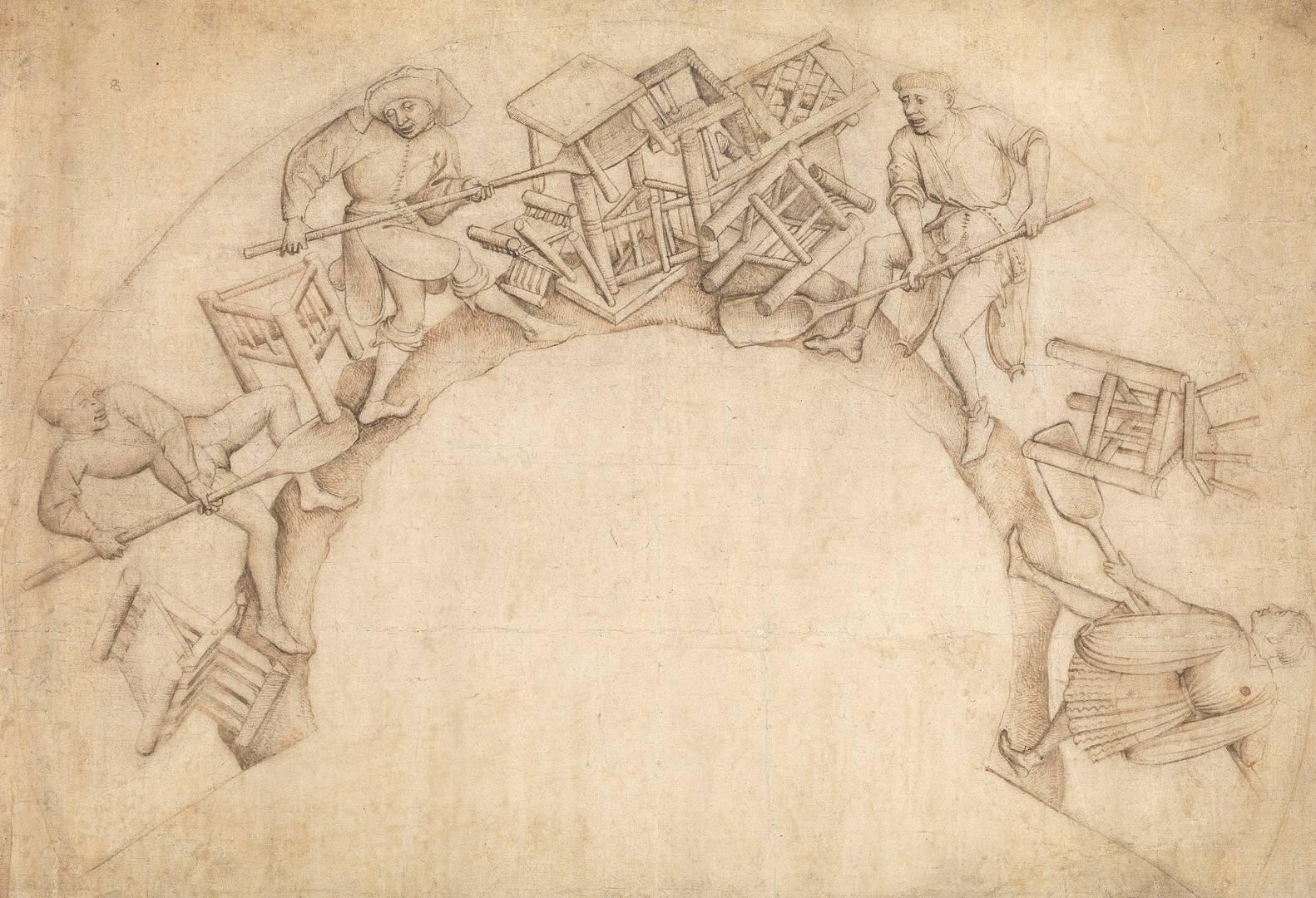 Из окружения Рогира ван дер Вейдена. Копание стульев (Scupstoel). 1444–1450