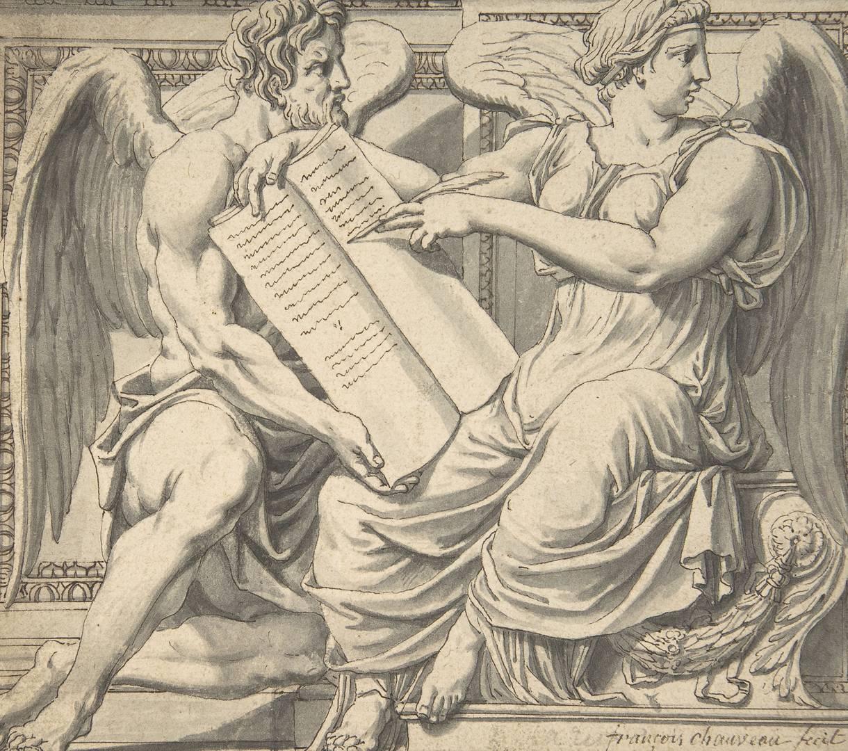 Франсуа Шово. Аллегория Истории. XVII в.