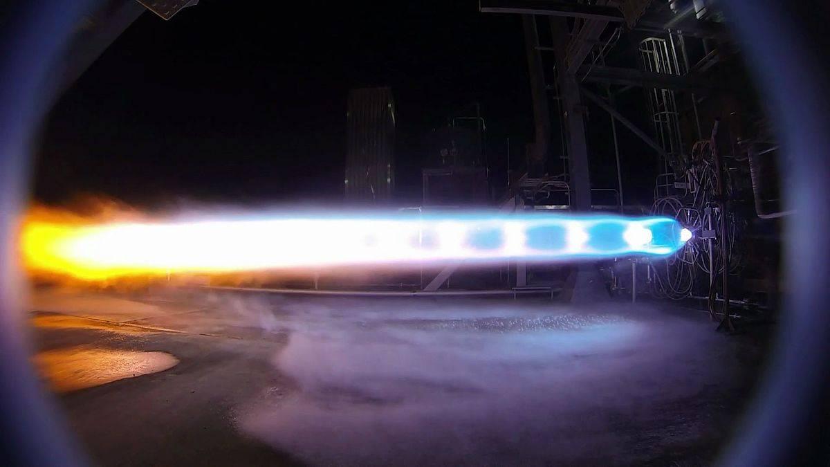 Испытания ракетного двигателя Blue Engine-4