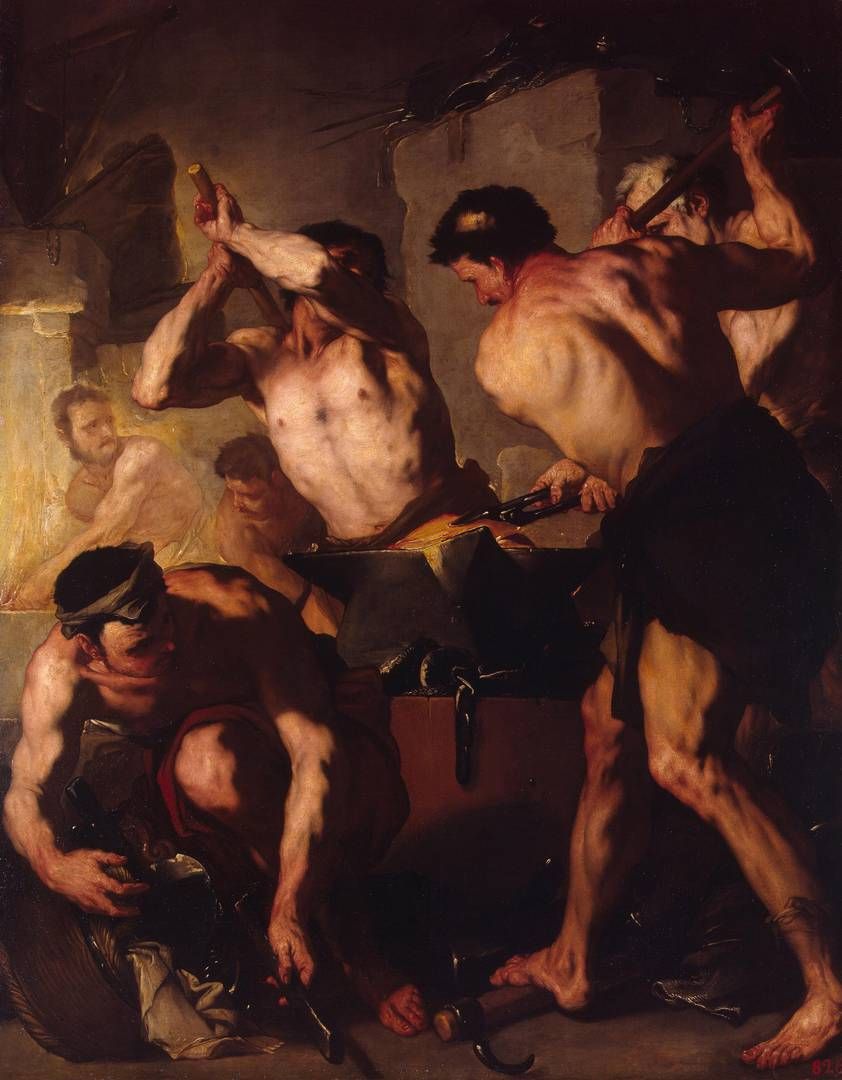 Лука Джордано. Кузница Вулкана. Около 1660