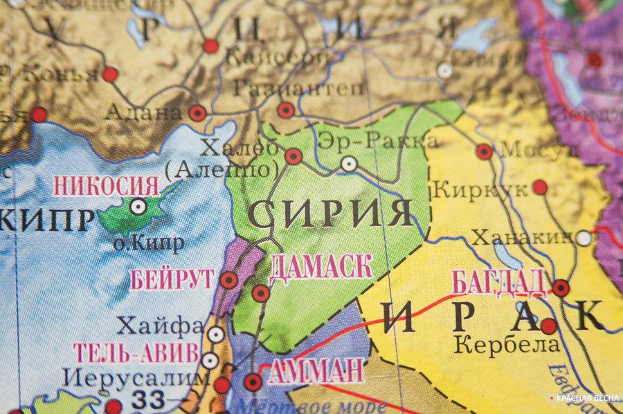 Сирия. Карта мир [Владимир Чичилимов © ИА Красная Весна]