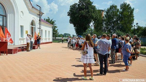 Встреча с избирателями депутата С. Тимофеева в г. Кимовске