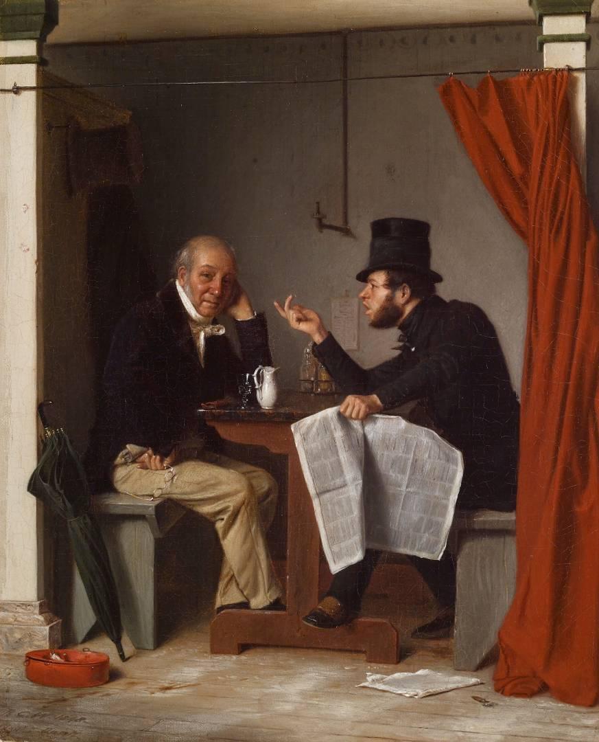 Ричард Кейтон Вудвиль. Политики в устричном баре (фрагмент). 1848