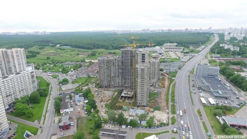 Строительство жилья.  Северное Чертаново. Москва