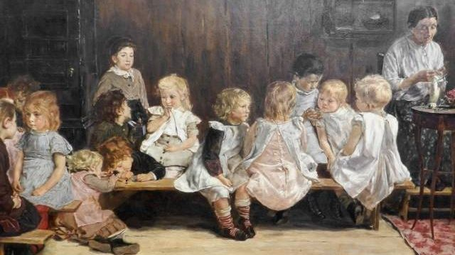 Макс Либерман. Детский сад. 1880