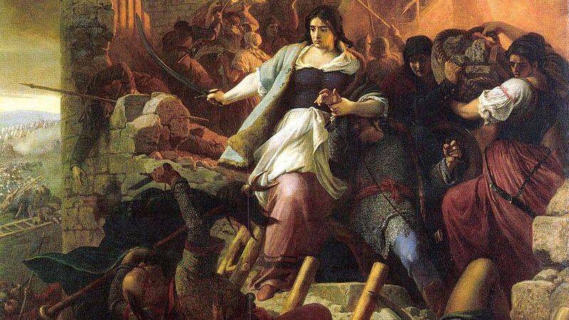 Берталан Секей. Женщины Эгера (фрагмент). 1867
