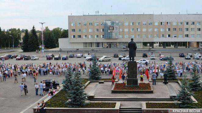 Митинг против пенсионной реформы в г. Саров. 26.07.2018