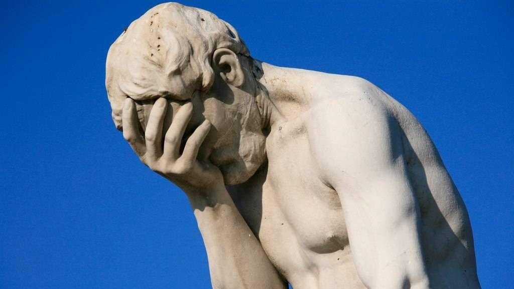 Cтатуя Каина в саду Тюильри, Париж. Cкульптор Анри Видаль. 1896