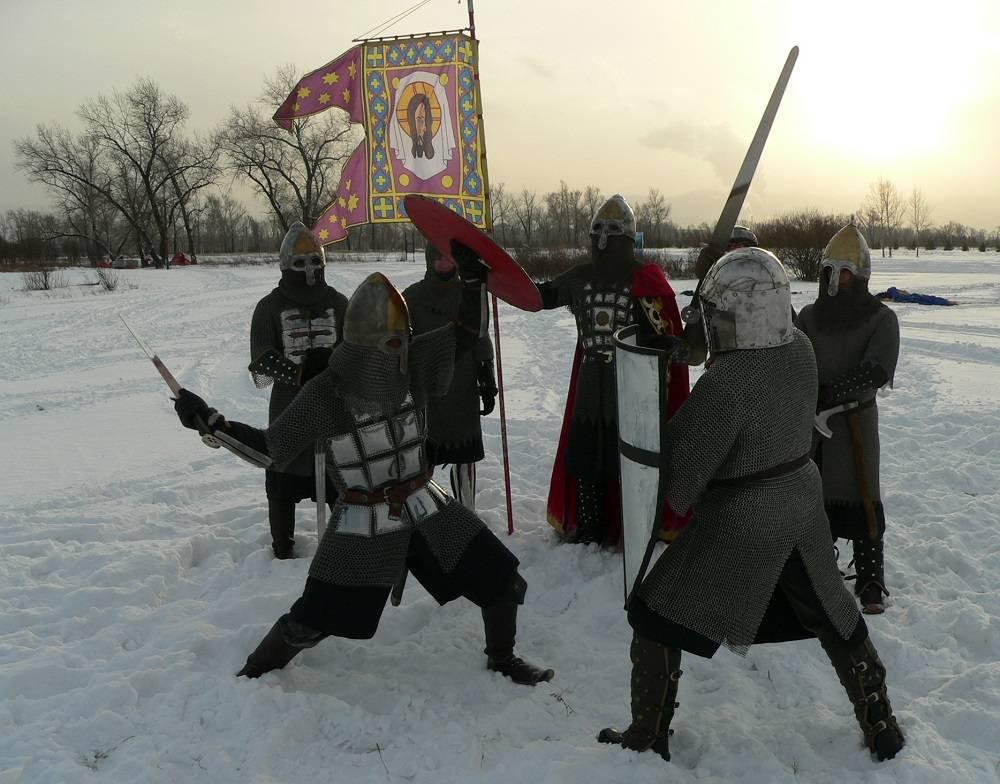 Богатыри на зимней военно-спортивной игре