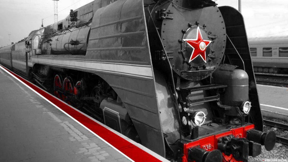 Состав ведет локомотив П-36