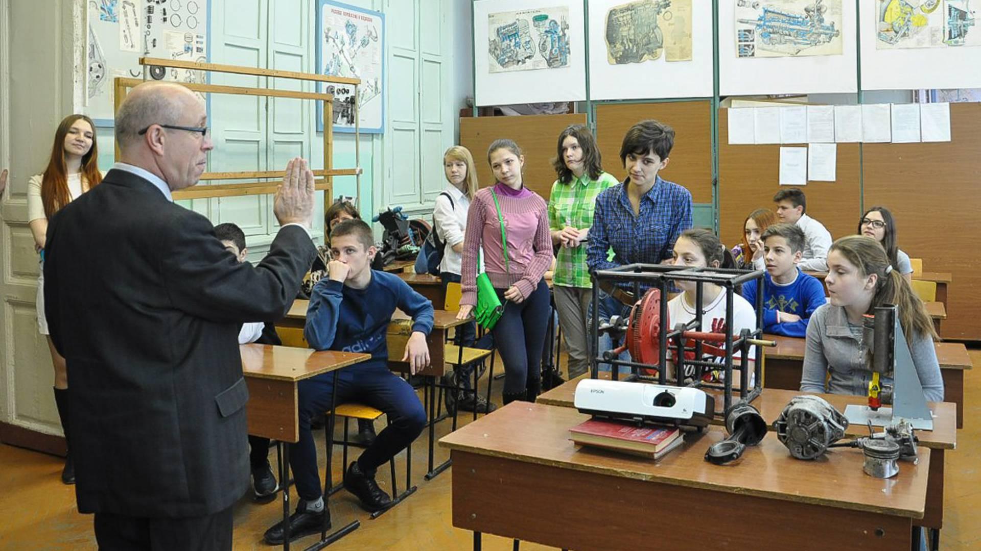 Занятия в Таганрогском металлургическом техникуме