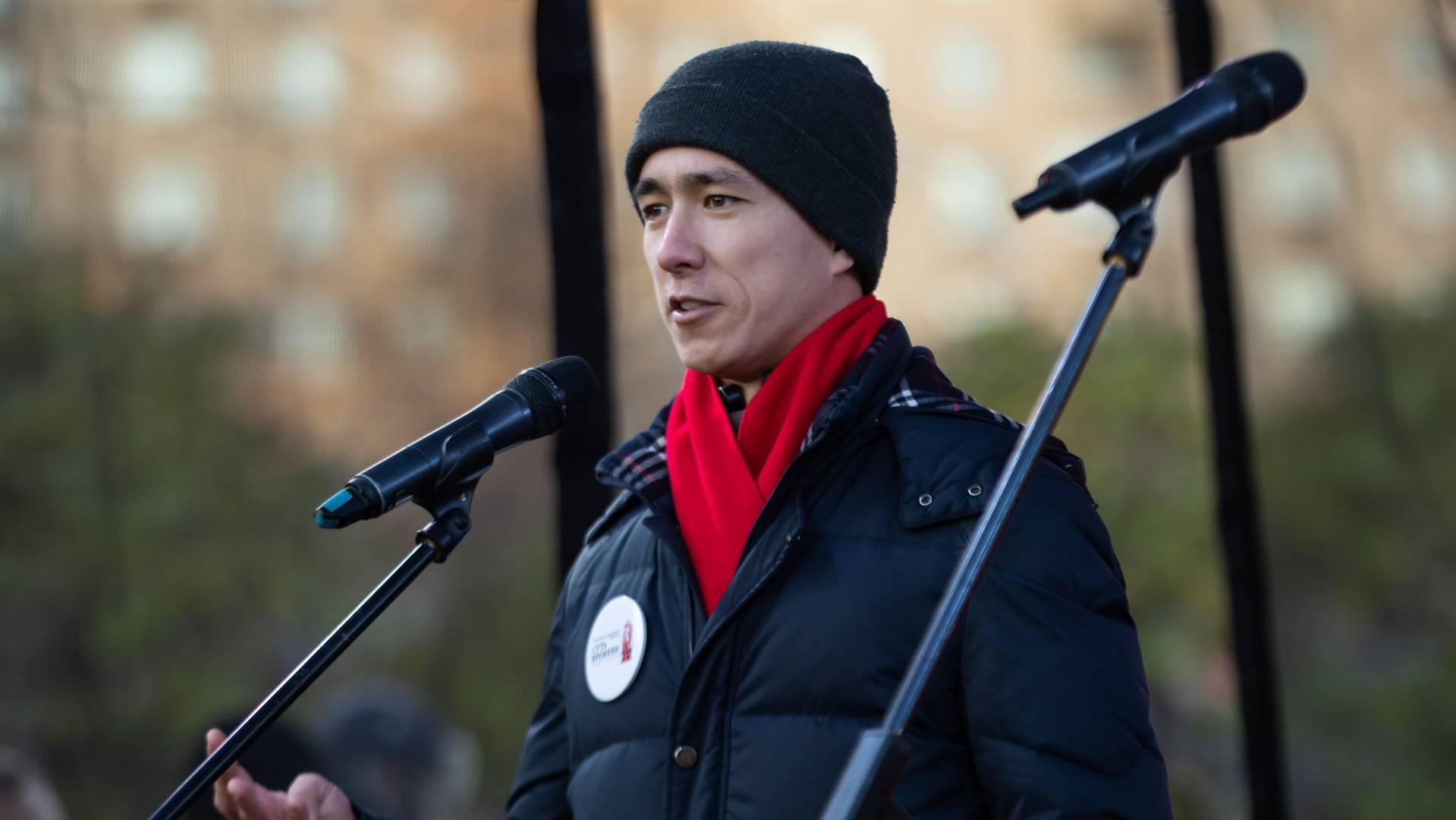 Николай Пак на митинге «Сути времени» в Москве, 5 ноября 2018 г.