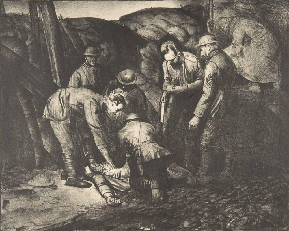 Джордж Уэсли Беллоуз. Снайпер. (Серия Война). 1918