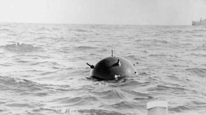 Морская контактная мина времен Второй мировой войны