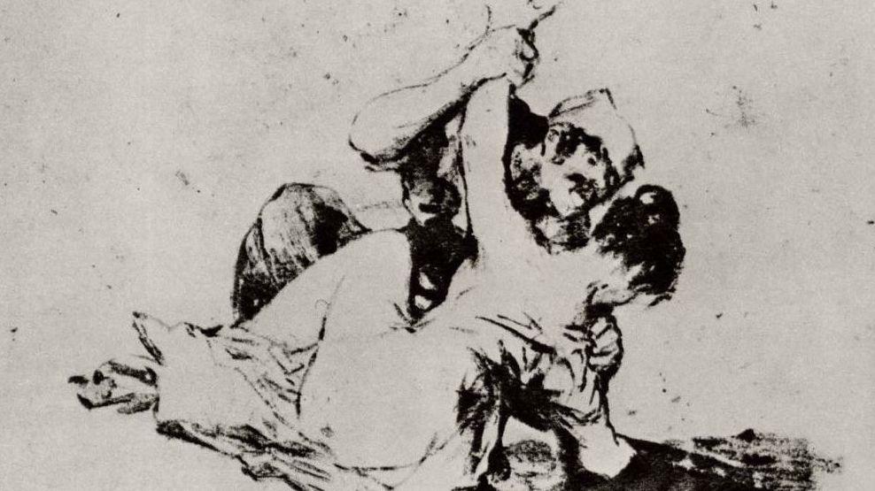 Франсиско де Гойя. Насилие. 1820