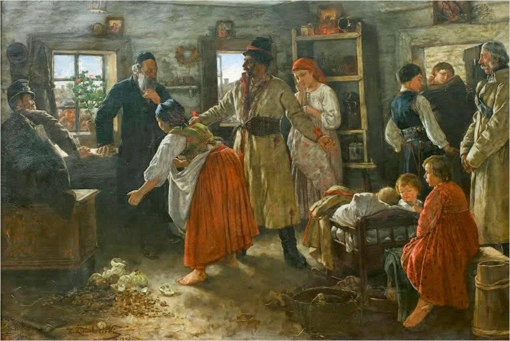 Каспер Желеховский. Неумолимый кредитор. Сцена из галицийской жизни. 1890