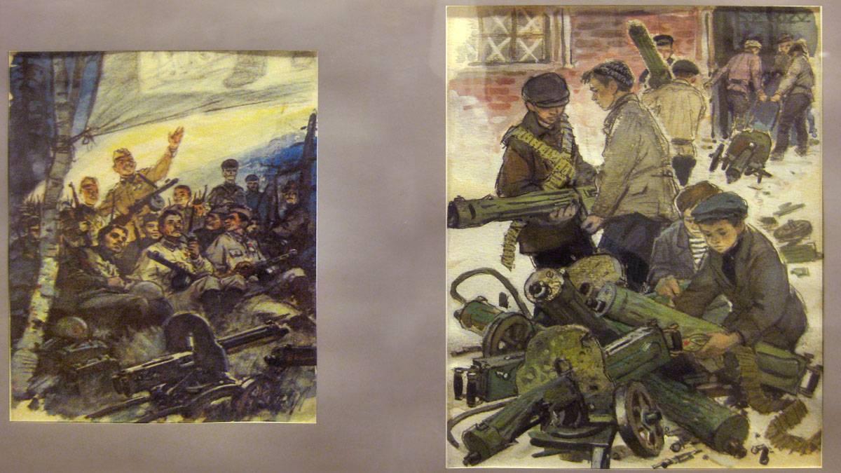 Иллюстрации к книге В.Воскобойникова «Василий Васильевич» (1977 г.). Шевченко Владимир Гаврилович (1922–2008)