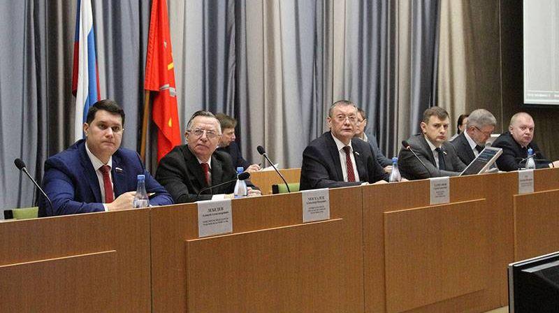 Президиум 58-го заседания Тульской областной Думы