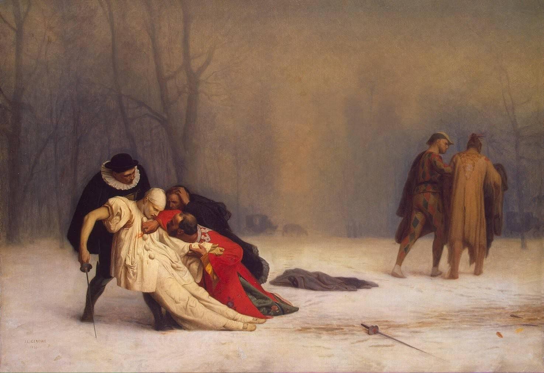Жан-Леон Жером. Дуэль после маскарада. 1859