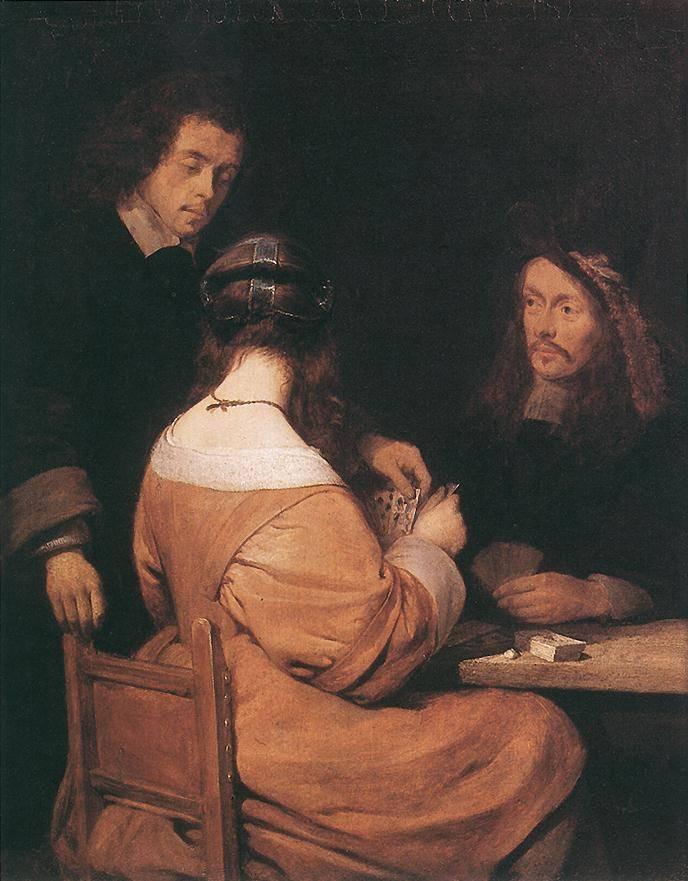 Герард Терборх Младший. Картежники. 1650
