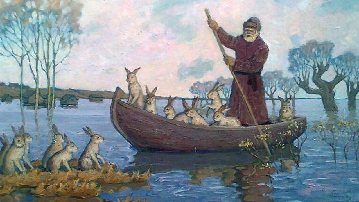 Дед мазай и зайцы в картинках, днем