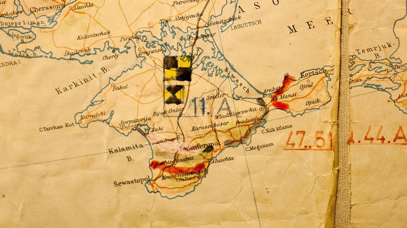 Крым на немецкой карте