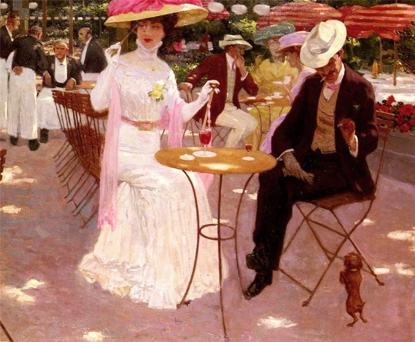 Aime Stevens (Belgian, born 1879). Кафе