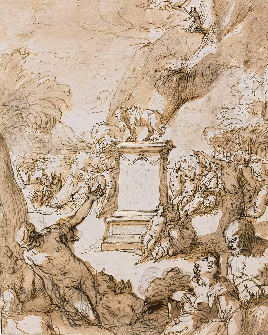 Иоганн Роттенхаммер. Поклонение Золотому тельцу. 1590–1600-е