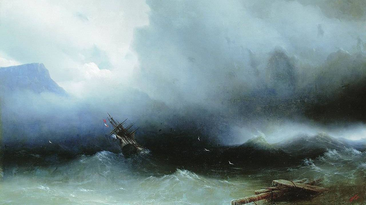 Иван Айвазовский. Ураган на море.1850
