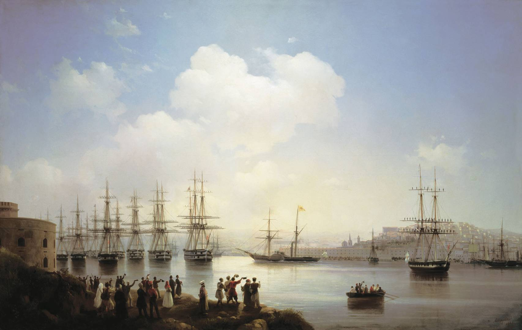 Айвазовский Иван. Русская эскадра на Севастопольском рейде. 1846