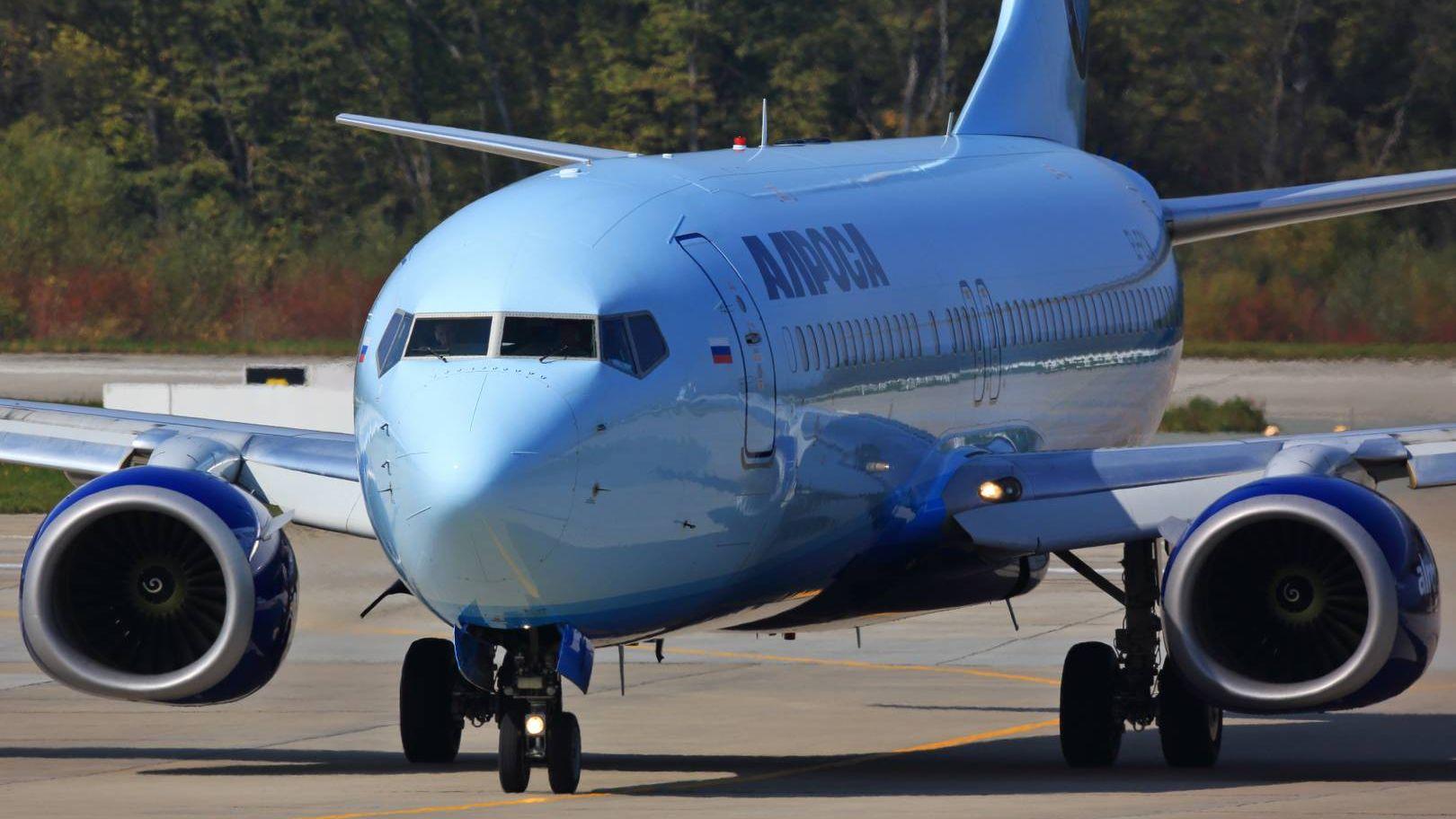 Самолет авиакомпании «Алроса»