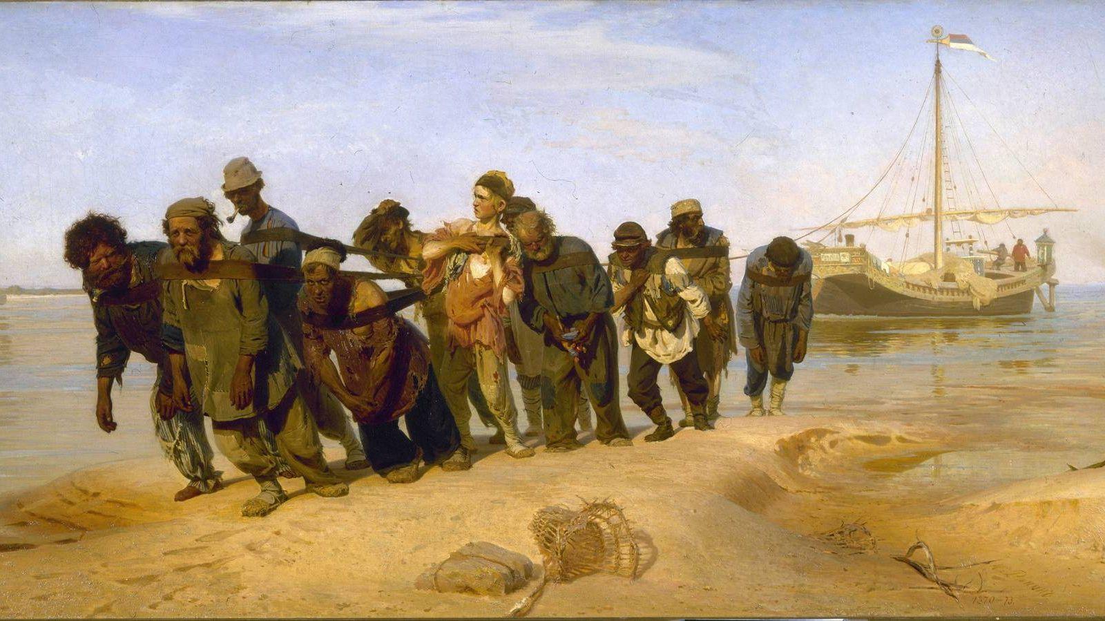 Репин Илья. Бурлаки на Волге (фрагмент). 1872-1873