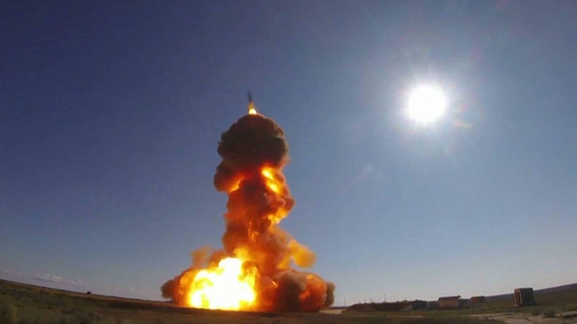 Цитата из видео «Воздушно-космические силы выполнили пуск новой противоракеты системы ПРО». mil.ru