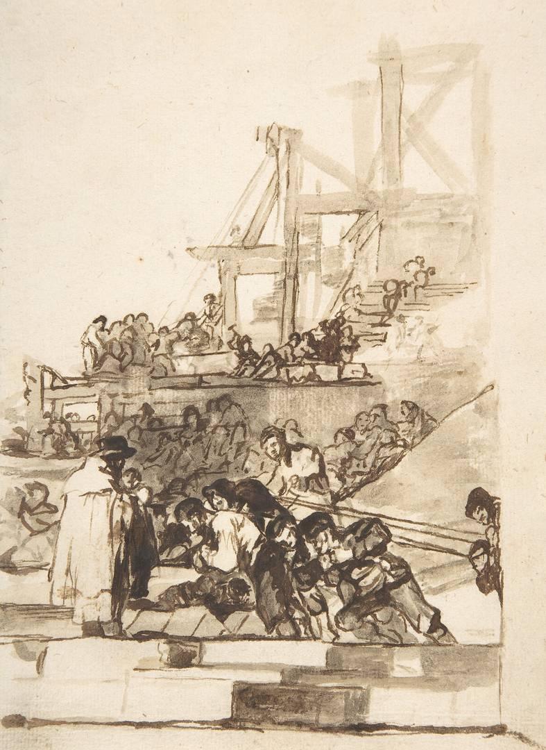 Франсиско Гойя. В процессе строительства. Ок. 1812–1820