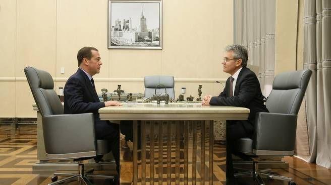 Дмитрий Медведев и Александр Сергеев