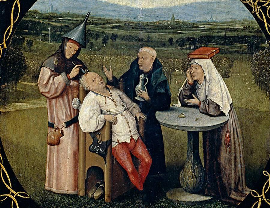 Иероним Босх. Извлечение камня глупости. 1475—1480
