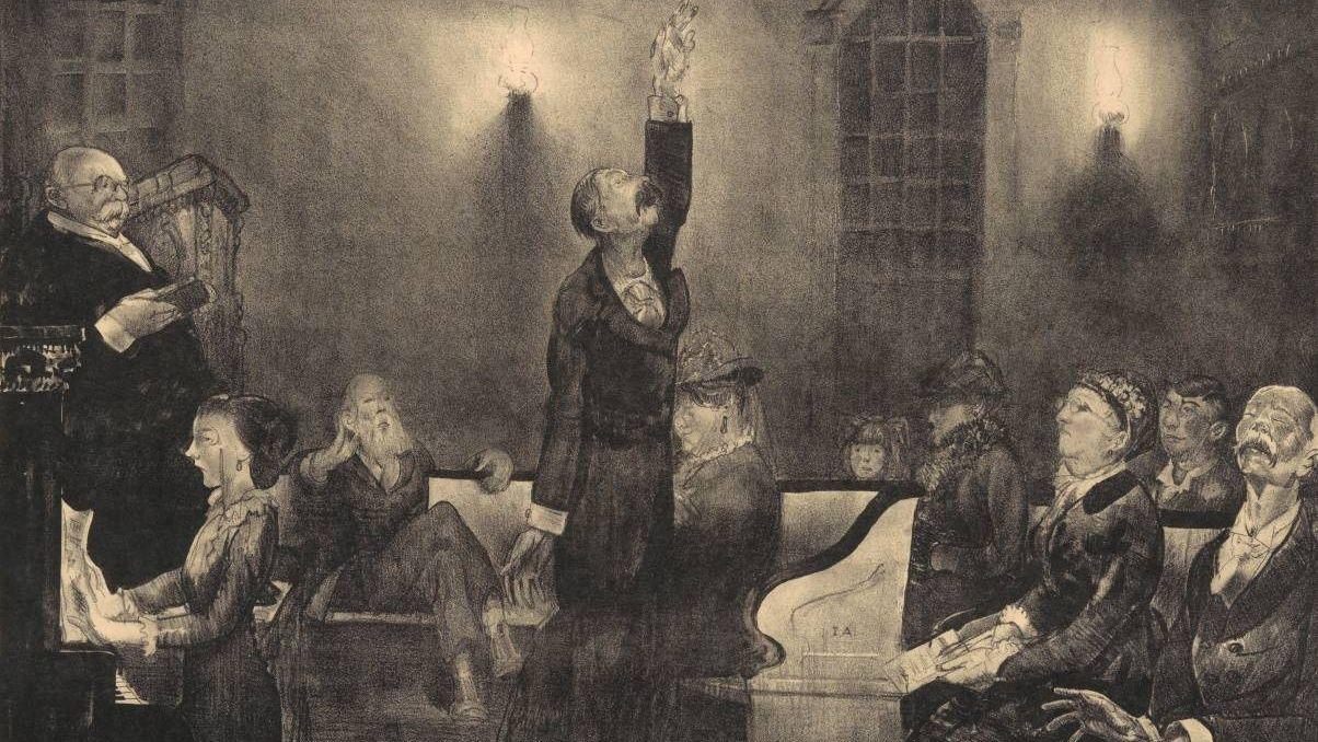 Джордж Уэсли Беллоуз. Молитвенное собрание (фрагмент). 1916