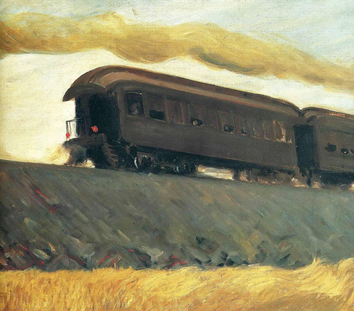 Эдвард Хоппер. Железнодорожный состав. 1908