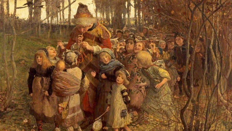 Джеймс Элдер Кристи. Гамельнский крысолов. 1881