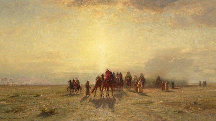 Сэмюэл Колмен – Караван в пустыне, 1878