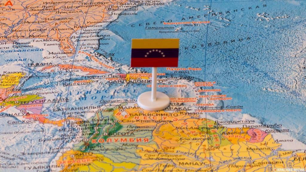 Венесуэла на карте мира
