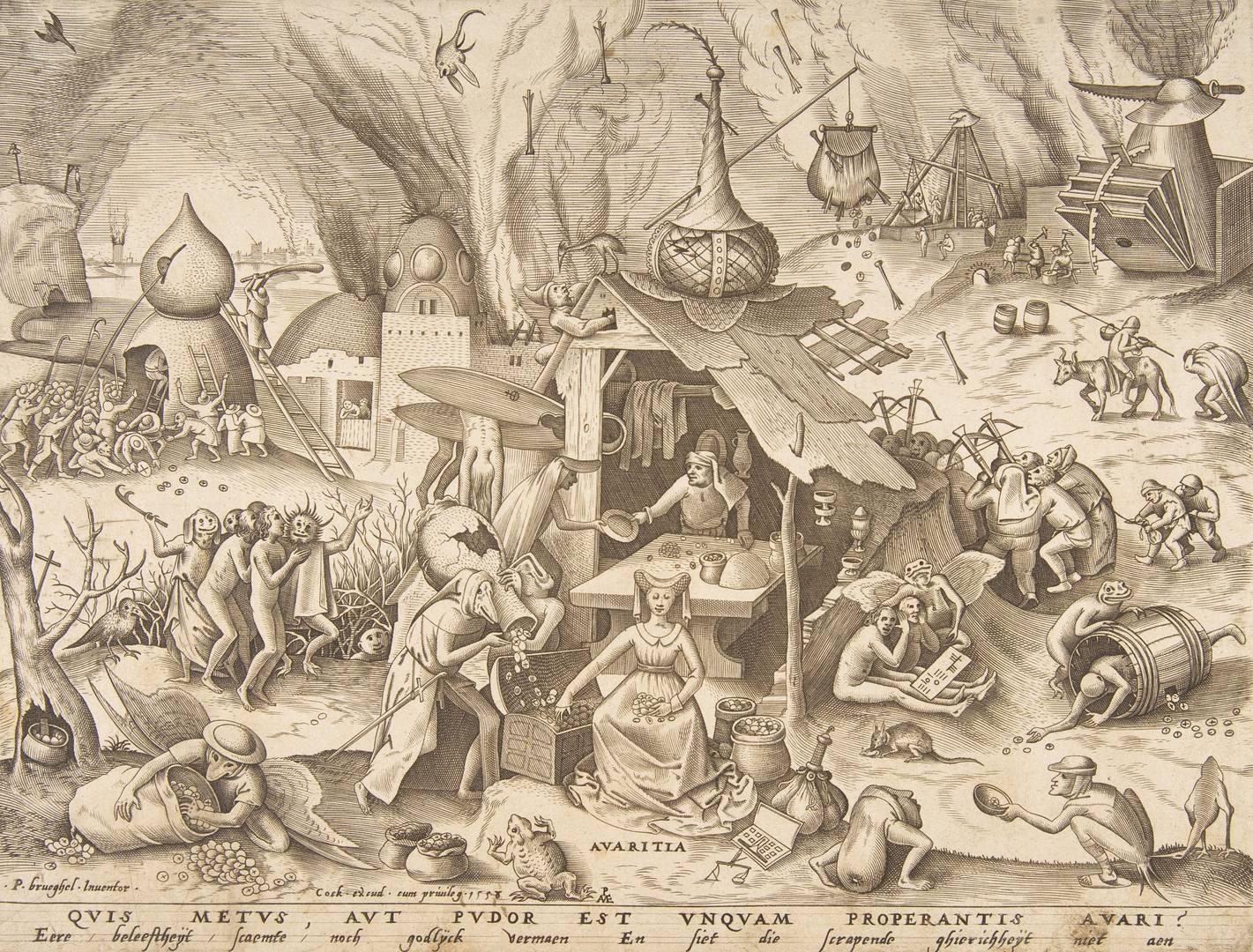 Питер Ван дер Хейден после Питера Брейгеля Старшего. Семь смертных грехов — Алчность. 1558