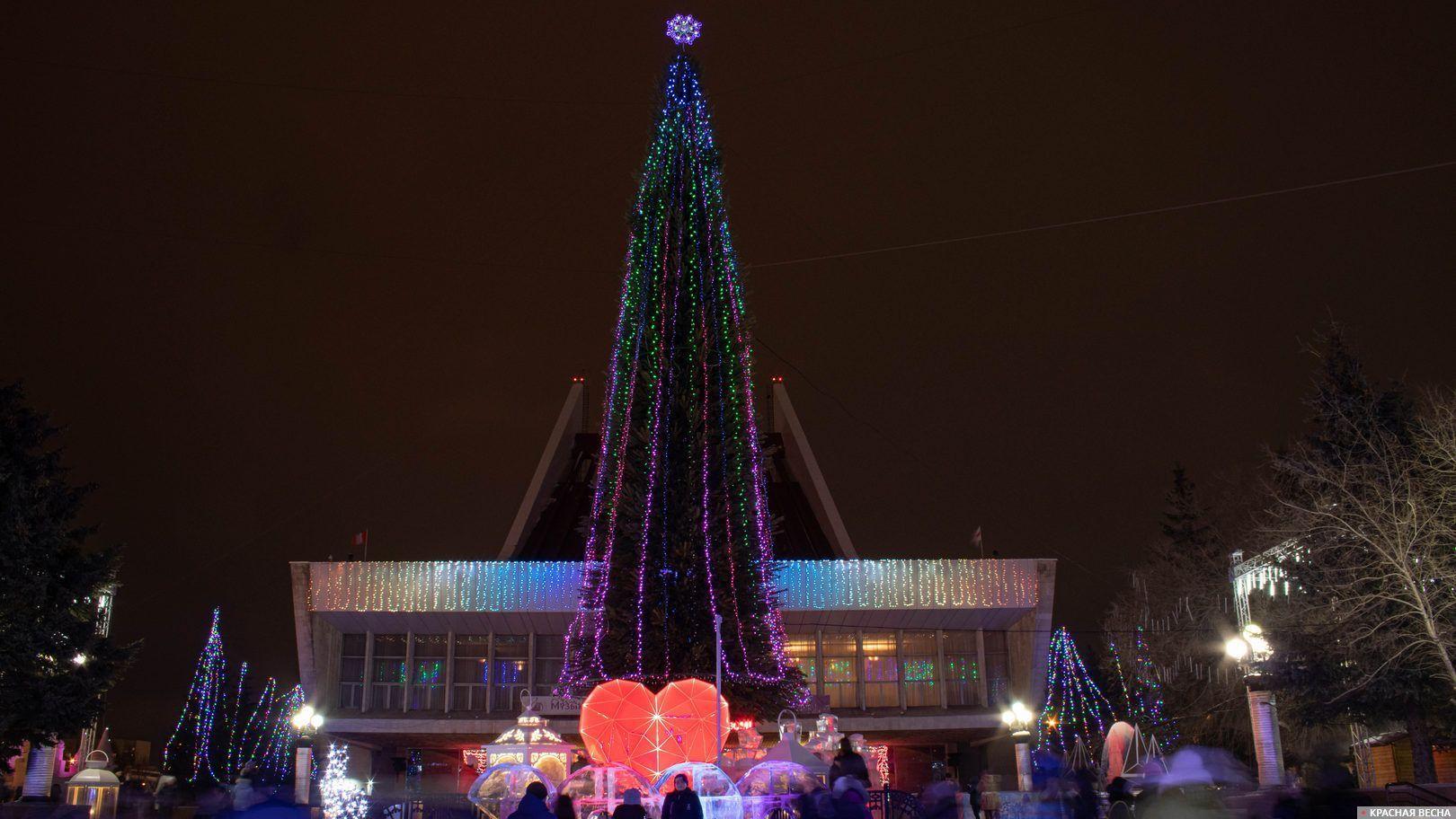 Главная городская елка в Омске