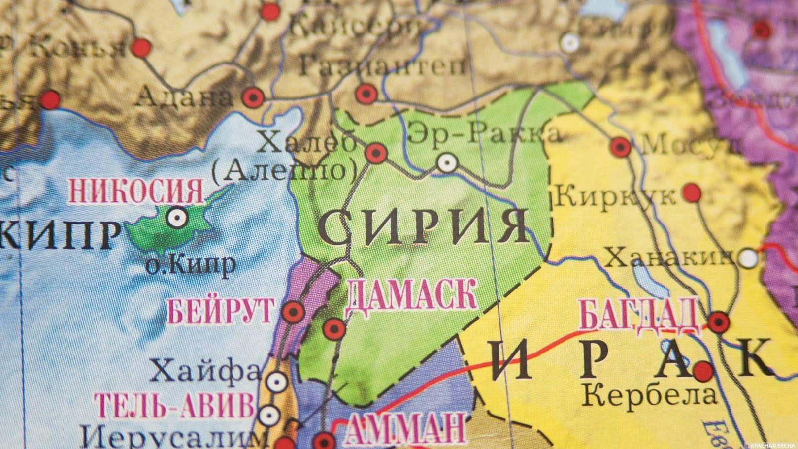Сирия Карта мир