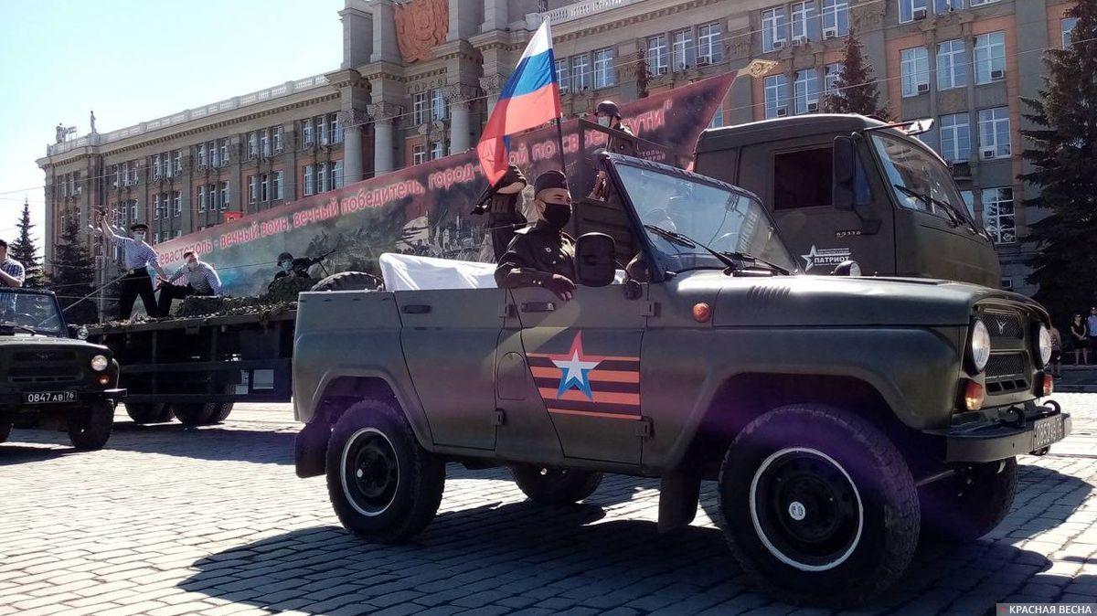 Автоколонна с реконструкцией событий Великой Отечественной войны, Екатеринбург, 9 мая 2020