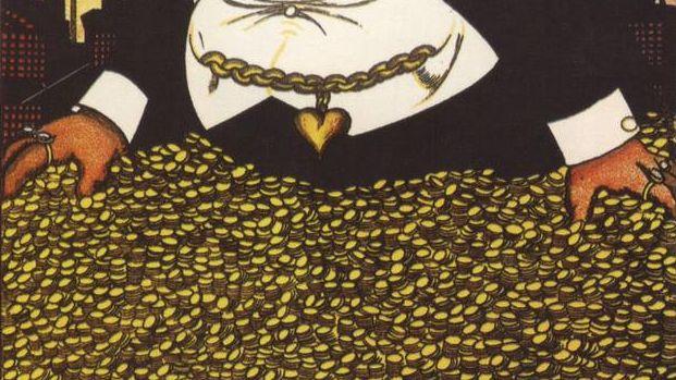 Капитал, фрагмент плаката Дени В. 1920
